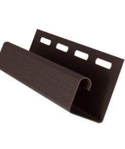 J-профиль Grand Line пластиковый коричневый