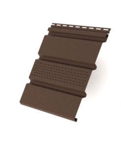 Софит T3 частично перфорированный Grand Line 3,0 коричневый (slim)