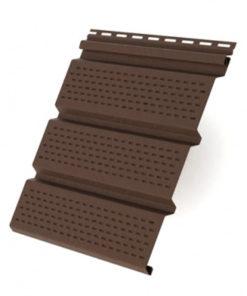 Софит T4 полностью перфорированный Grand Line 3,0 коричневый