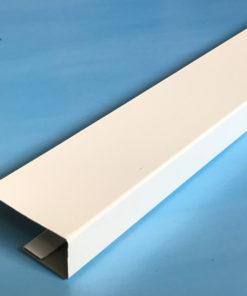 Планка финишная металлическая белая